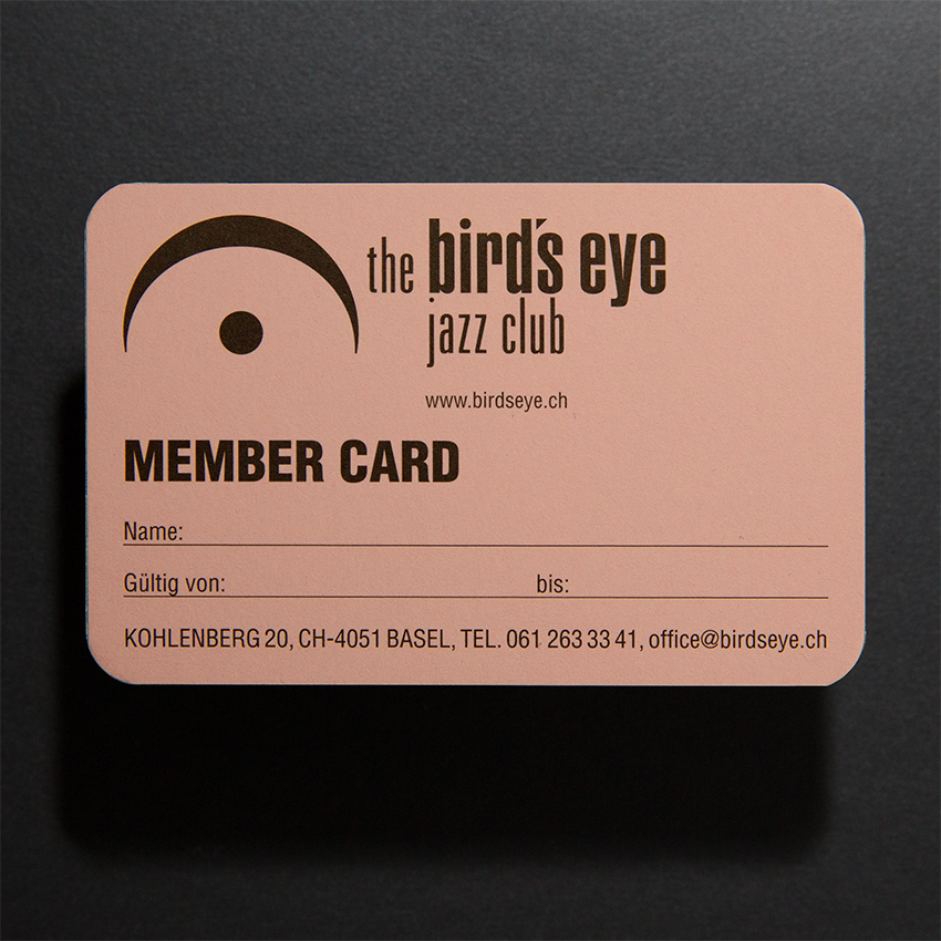 The birds eye jazz club member cards merchandise image reheart Image collections